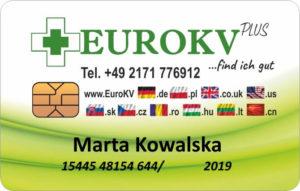 Karta ubezpieczeniowa Eurokv